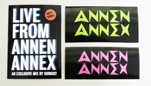 SHING02 LIVE FROM ANNEN ANNEX MIX CD