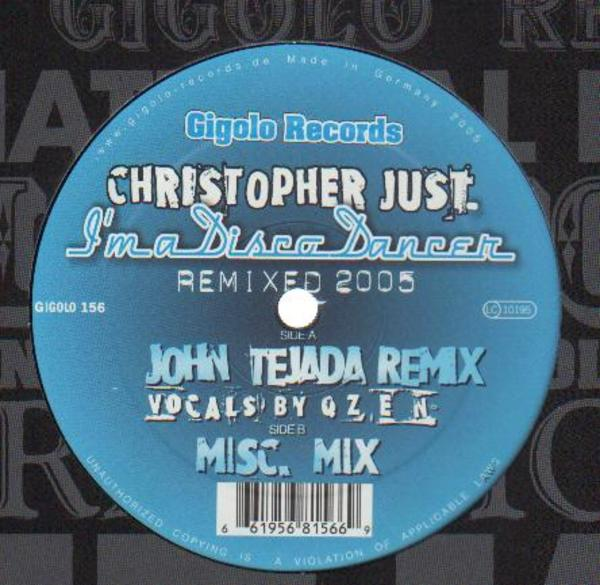 商品詳細 : 【中古・USED】CHRISTOPHER JUST(12) I'M A DISCO DANCER REMIXED 2005【TECHNO】