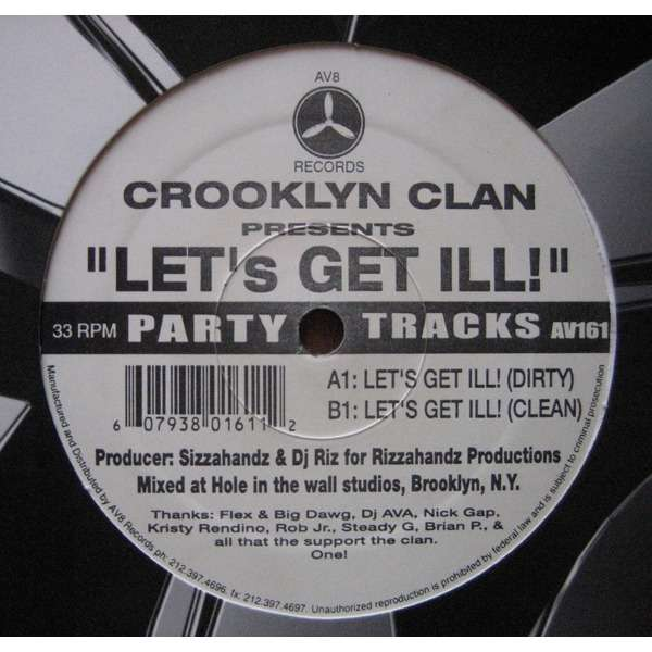 商品詳細 : 【中古・USED】THE CROOKLYN CLAN(12) LET'S GET ILL【HIPHOP】