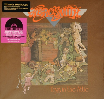 商品詳細 : AEROSMITH (LP 180G重量盤) TOYS IN THE ATTIC 【高音質!MUSIC ON VINYL盤】
