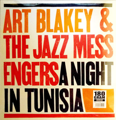 商品詳細 : ART BLAKEY & THE JAZZ MESSENGERS(LP/180g重量盤) A NIGHT IN TUNISA 【高音質!】