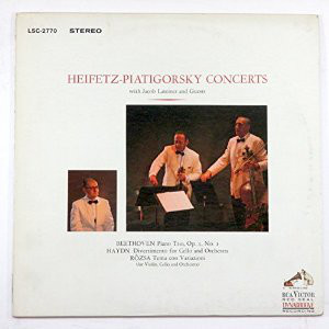 商品詳細 : 【高音質仕様レコード超特価セール!枚数限定60%OFF!】Heifetz/Piatigorsky/Jacob Lateiner(33rpm 180g LP Stereo)Heifetz-Piatigorsky Concerts with Jacob Lateiner & Guests