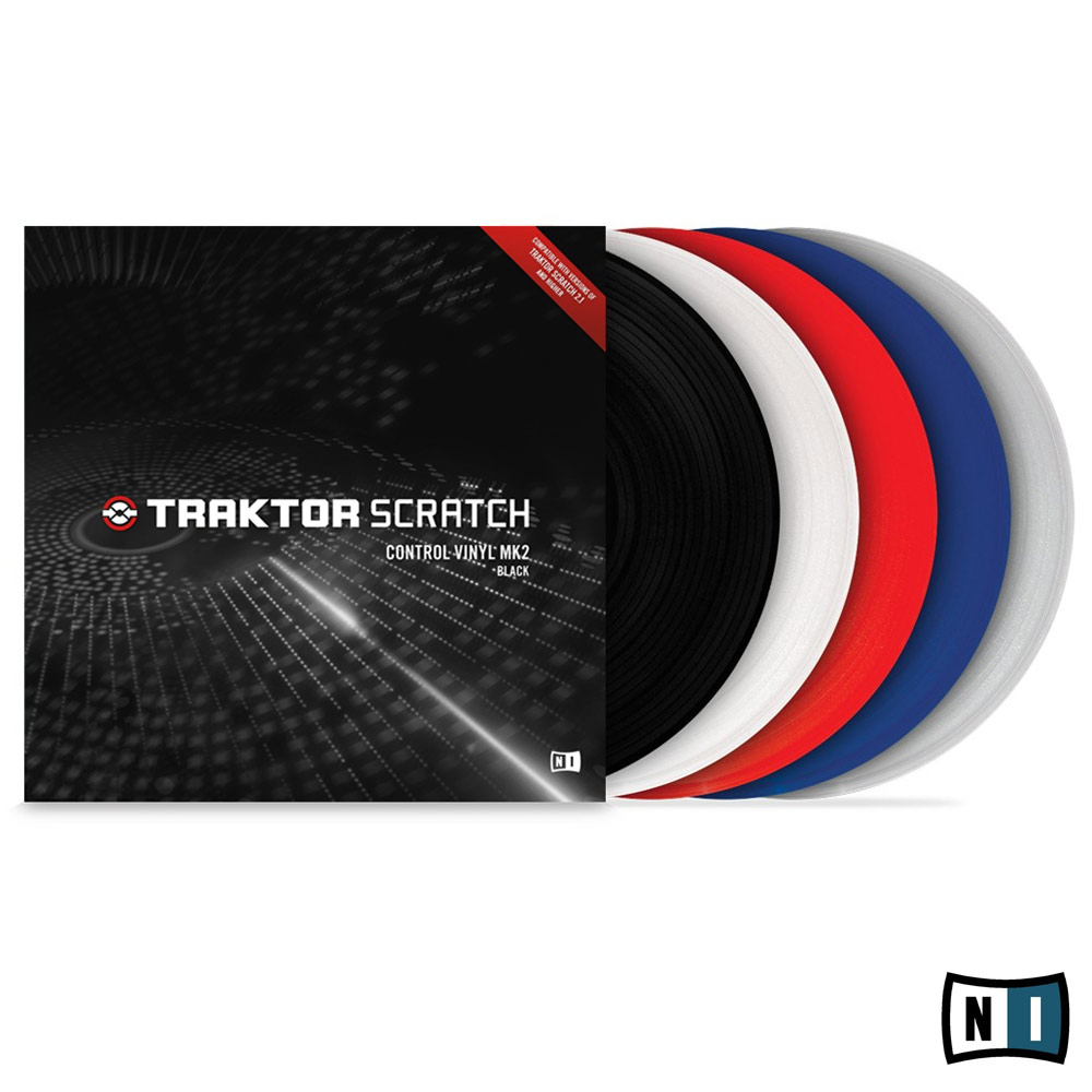 商品詳細 : NATIVE INSTRUMENTS/PCDJ/TRAKTOR SCRATCH Control Vinyl MK2 Blue(1枚)