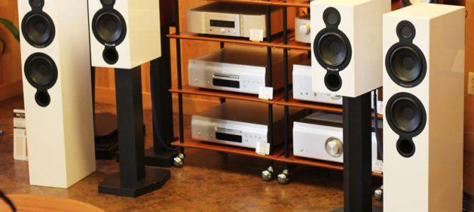 Cambridge Audio  Aeromaxシリーズのスピーカーを展示しました。