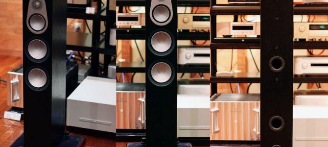 MonitorAudioのトールボーイスピーカー、Silver300を展示しました。