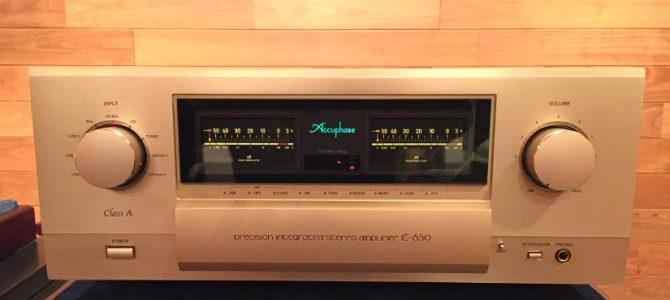 【期間限定】Accuphaseのプリメインアンプ、E-650の展示のご案内です。