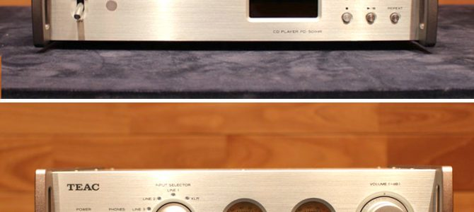 コンパクトなCDプレイヤーとアンプの中古品が入荷いたしました。PD-501HR-S (CDプレイヤー)とTEAC AX-501-S(プリメイン)のご紹介。
