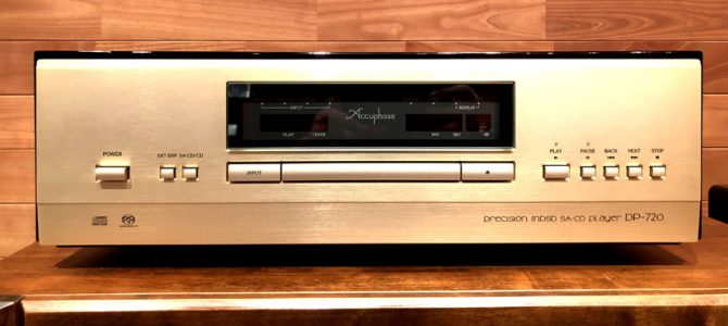 【CDプレーヤーのアップグレードに】Accuphase DP-720の中古美品入荷!