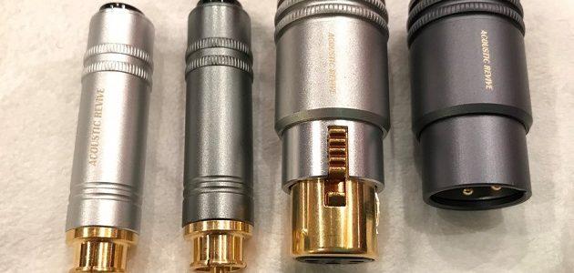 【効果抜群】ACOUSTIC REVIVEのハイグレードなショートピンとターミネーターがすごい。~RET-RCA、RET-XLR、RES‐XLR、RES‐RCA~