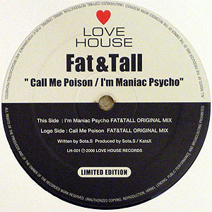 商品詳細 : FAT & TALL(12) CALL ME POISON / I'M MANIAC PSYCHO