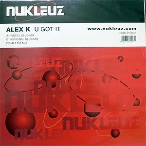 商品詳細 : 【USED・中古】ALEX K (12) U GOT IT