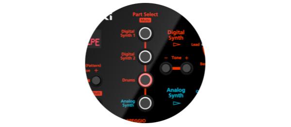 アナログとデジタル、2つのサウンド・エンジンを搭載したアナログ/デジタル クロスオーバー・シンセサイザー